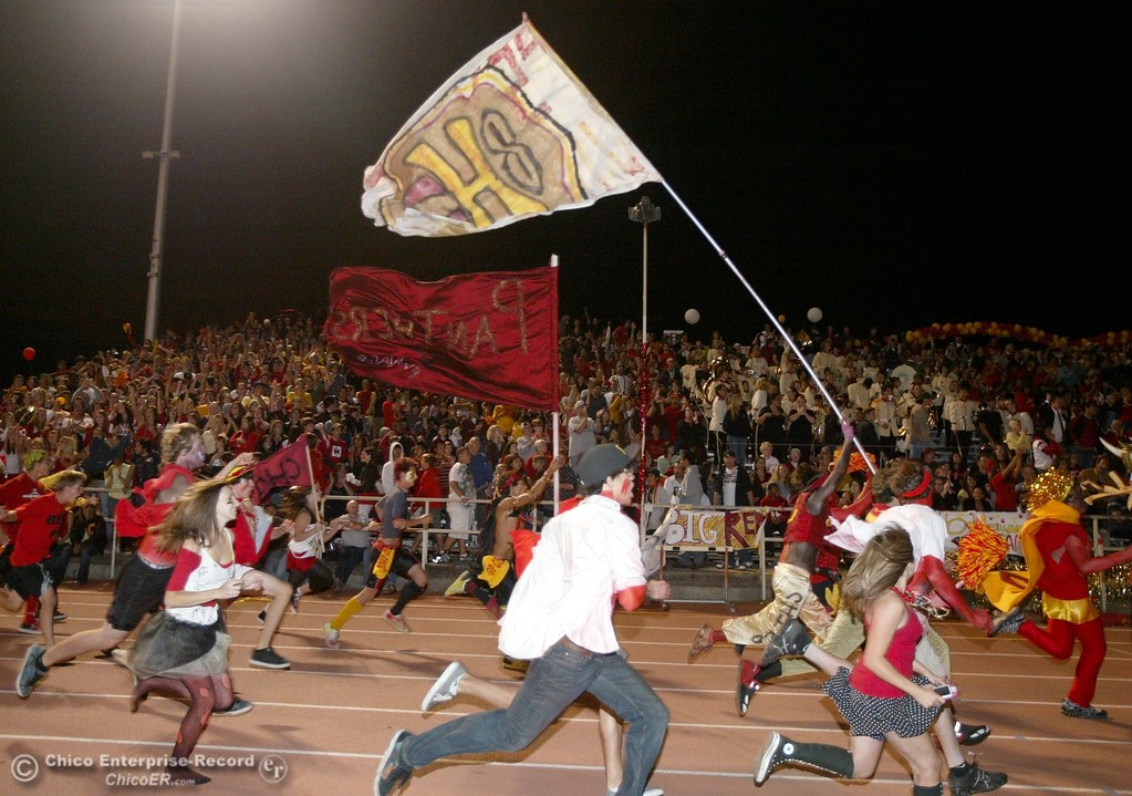 . Chico High against Pleasant Valley High in the first quarter of their 2008 Almond Bowl Football game Friday, October 17, 2008 at CSUC University Stadium in Chico, CA. 