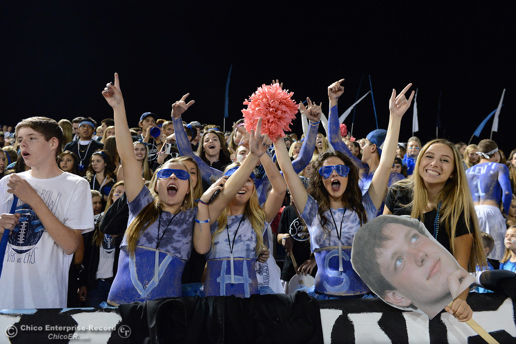 . Friday, Oct. 23, 2015, during the 45th Almond Bowl between Chico and Pleasant Valley high schools at University Stadium in Chico, California. (Dan Reidel -- Enterprise-Record)