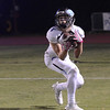 Trevor Owens (4) catches a touchdown pass in the Almond Bowl on Friday, Oct. 21, 2016, against Pleasant Valley at University Stadium in Chico, California.