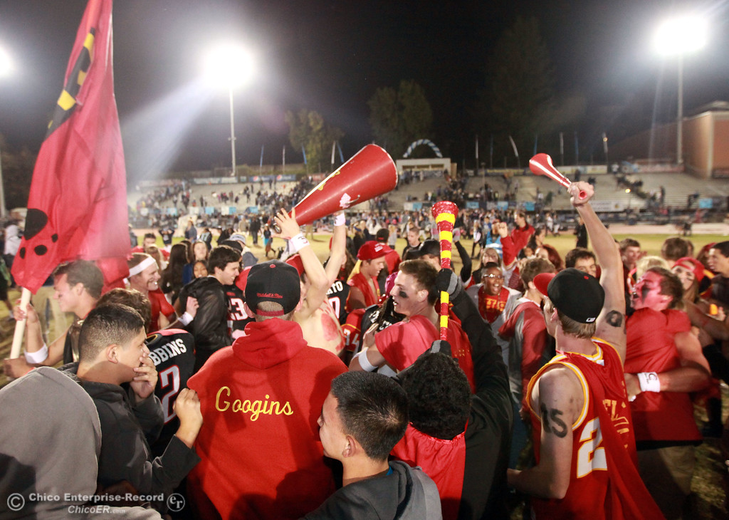 . Chico High against Pleasant Valley High in the fourth quarter of their Almond Bowl football game at CSUC University Stadium Friday, October 26, 2012 in Chico, Calif. (Jason Halley /Chico Enterprise-Record)