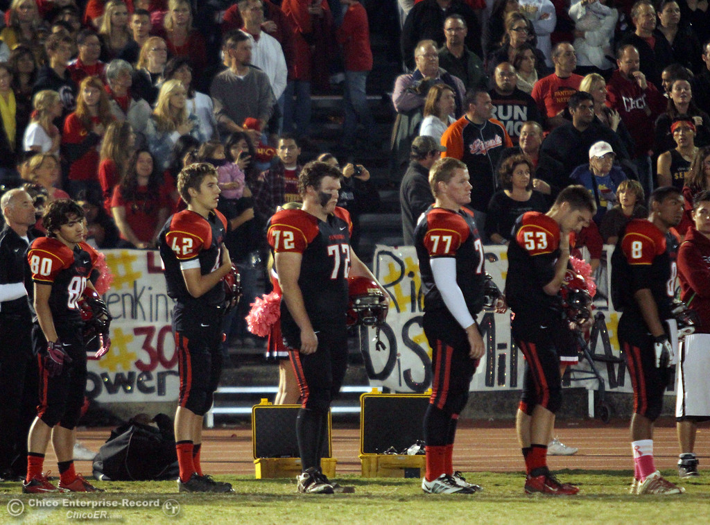 . Chico High against Pleasant Valley High in the first quarter of their Almond Bowl football game at CSUC University Stadium Friday, October 26, 2012 in Chico, Calif. (Jason Halley /Chico Enterprise-Record)