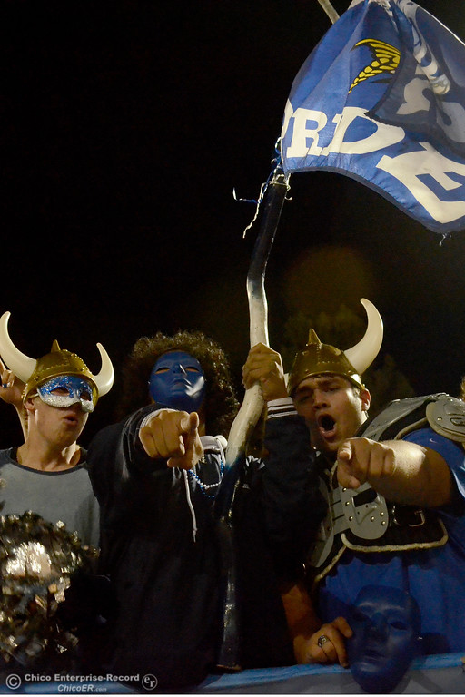 . Pleasant Valley students cheer on the Vikings during the Almond Bowl at University Stadium in Chico, California. (Dan Reidel -- Enterprise-Record)