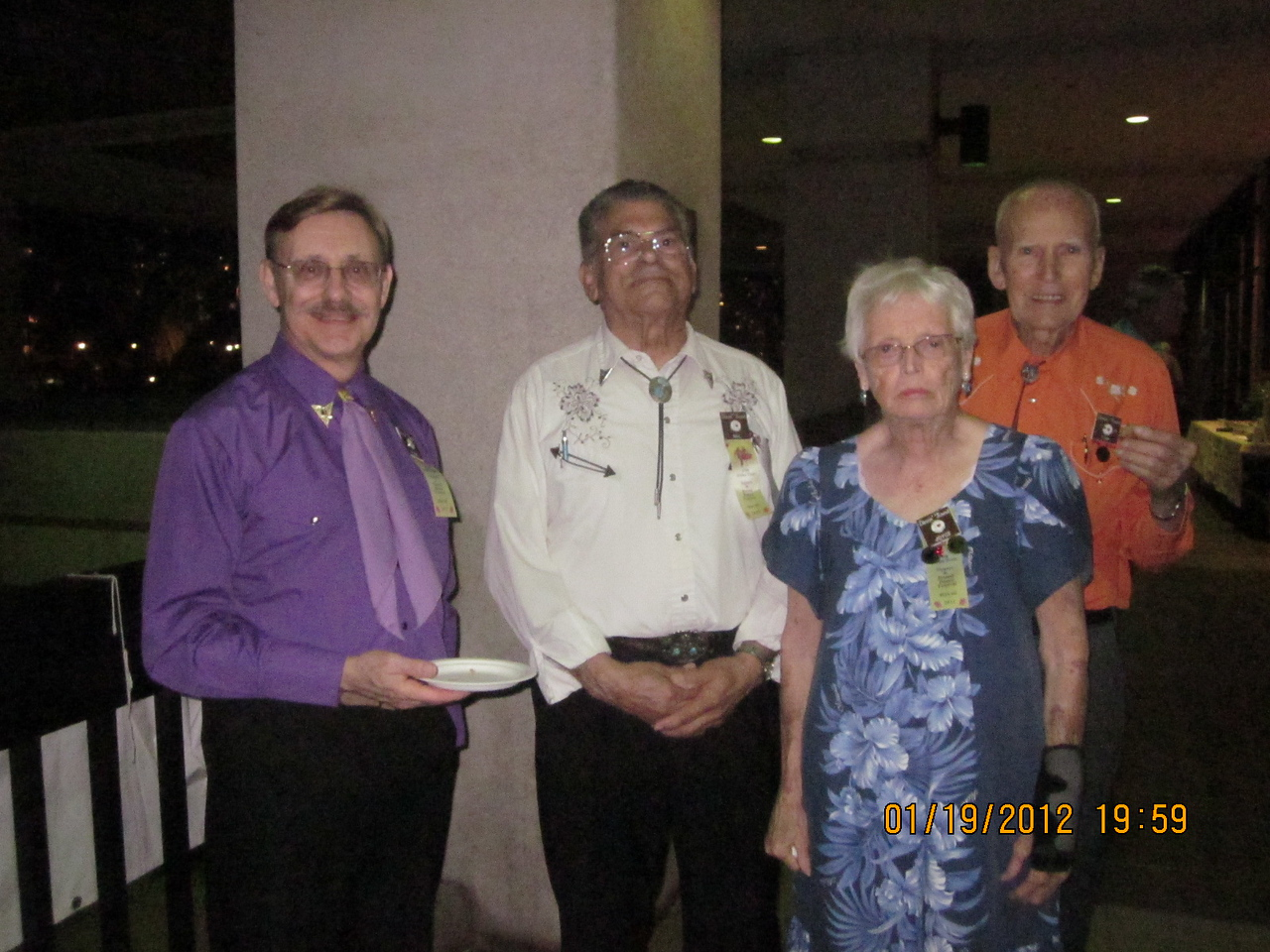 Dennis - Bill - Joyce  & Tom, all from CA