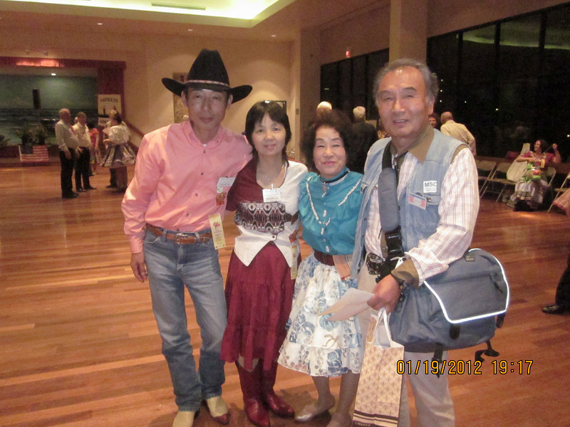 our Japanese dancers: Takashi & Yoshiko.. Sawako  & Masa..