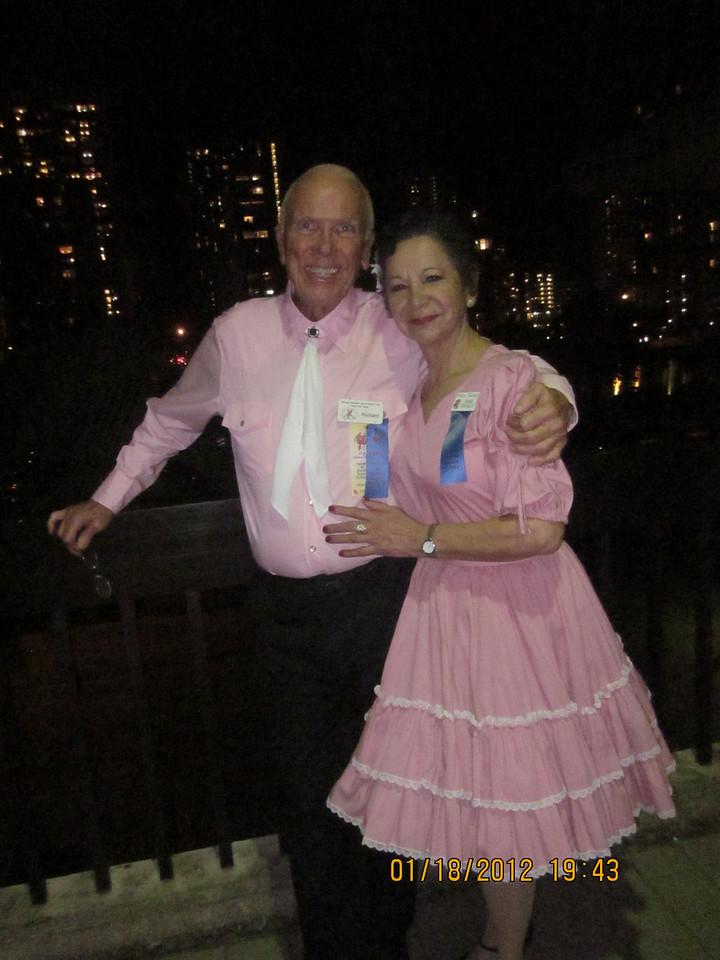 Festival dancers: Richard & Rosie from CA