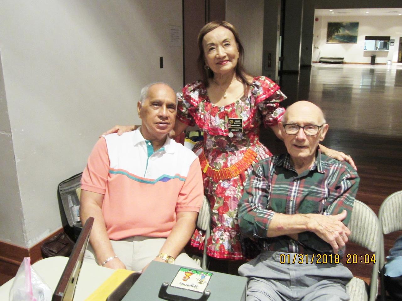 Linda with papa Norm  & Todd