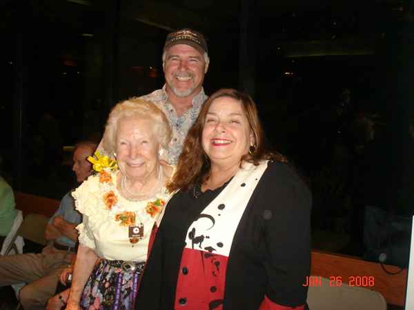 Wanda  from San Diego with her youngest son Richard and his girlfriend Denise (live in Haleiwa)