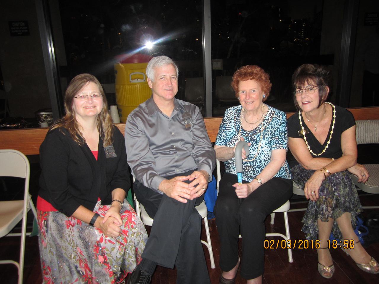 Allison & Dan ; Patricia & Judy from Australia