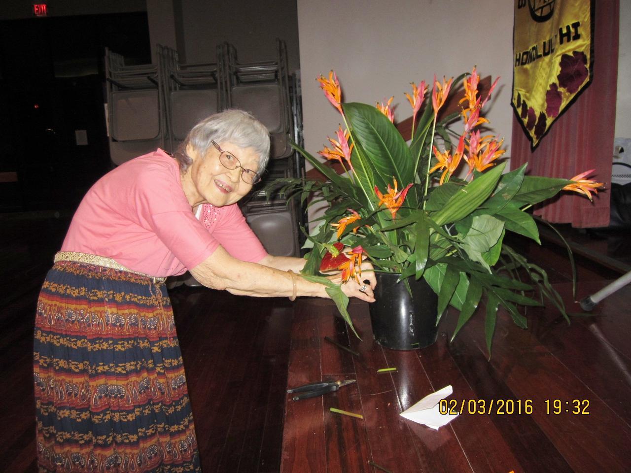 our florist Ann...