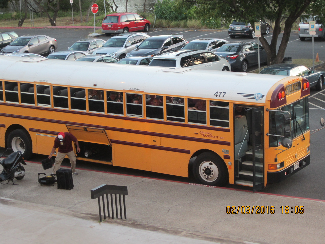 There is the bus brought the dancers