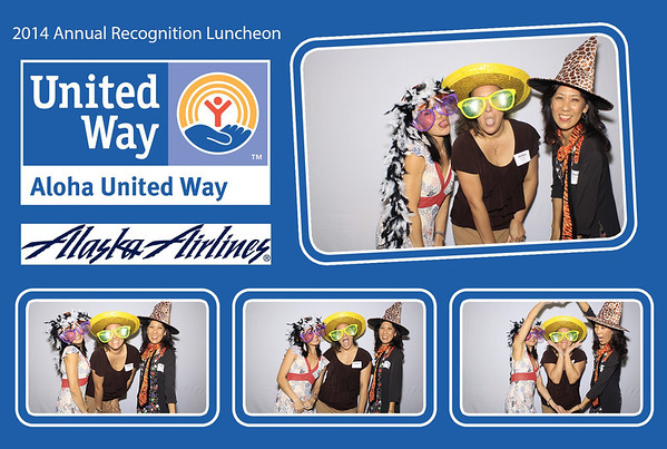 Aloha United Way 'Recognition Lunch 2014' (Stand Up Photo Booth)