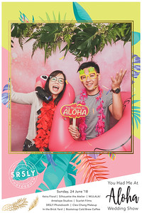 You Had Me At Aloha! Wedding Show | © www.SRSLYPhotobooth.sg