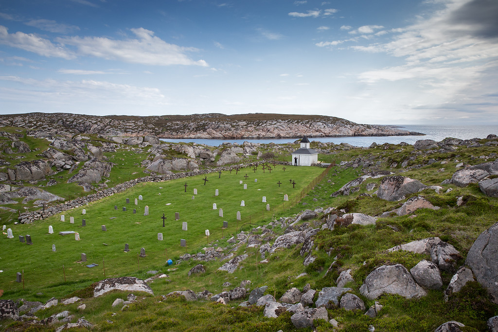 An old graveyard on the island of Kirkøy. No people live here.