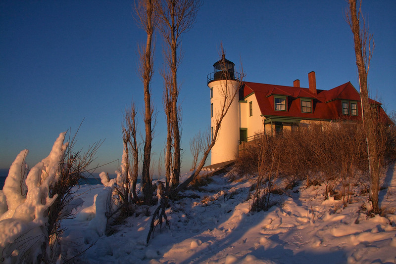 Point Betsie at Sunset