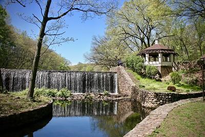 Waterfall in Echo Lake Park in Mountainside New Jersey