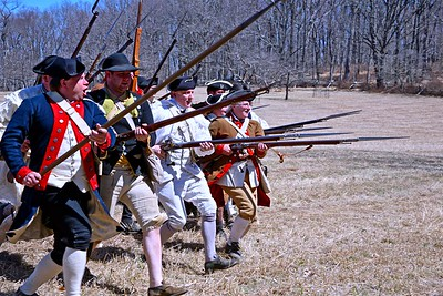 Charge Reenactors at Jockey Hollow in Morristown National Historic Park