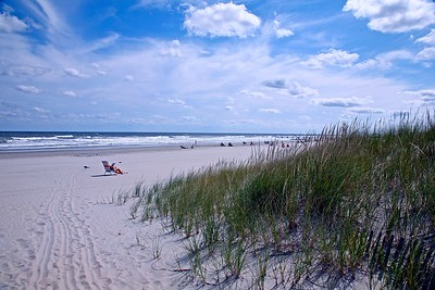 Late Summer Afternoon on the Beach in Stone Harbor