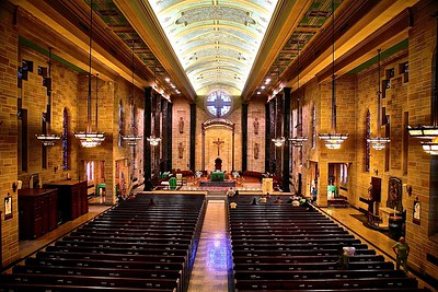 Interior of Cathedral of St. Mary of the Assumption in Trenton