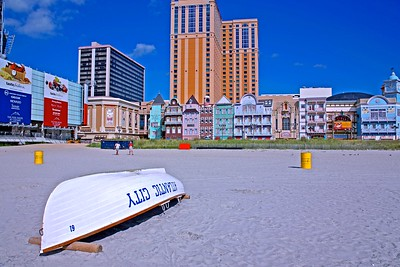 On the Beach in Atlantic City