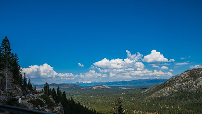 First look at the Lake Tahoe basin from Hwy 50.