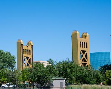 Tower Bridge ofer the Sacramento River on Hwy 50