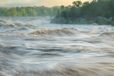 Flooding of The Potomac at Great Falls 2018