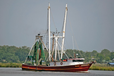 Shrimp boat in back bay of Biloxi,Ms.