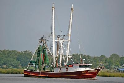 Shrimp boat in back bay of Biloxi,Ms.