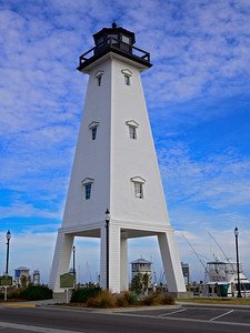Lighthouse at the marina in Gulfport, Ms.
