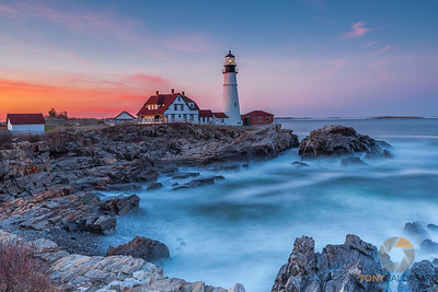 Portland Head Light at Sunset