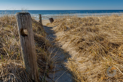 Posted Beach Path