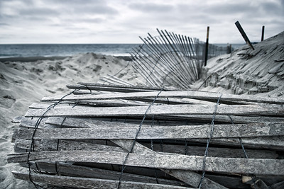 Coiled Wreckage on the Sand