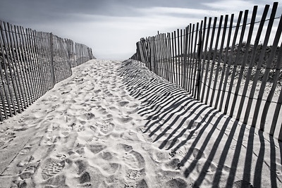 Prints and Shadows in the Sand