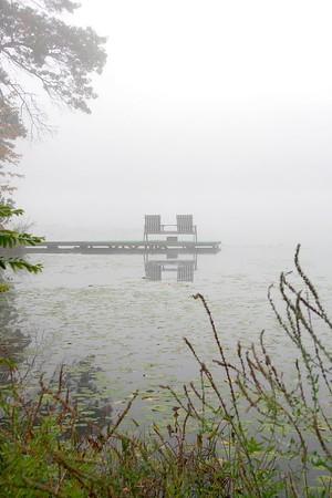 Foggy morn on the lake