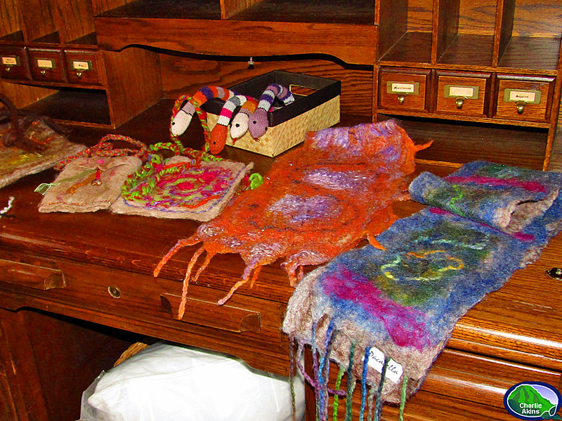 Each scarf is made by hand with alpaca fiber.