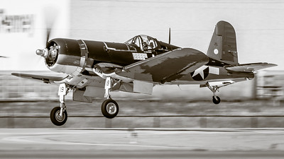 When 2.250 hp  Takes to the Air! - Cavanaugh Flight Museum's FG-1D 'Corsair' - Climbing Out at Ft. Worth Alliance Airshow