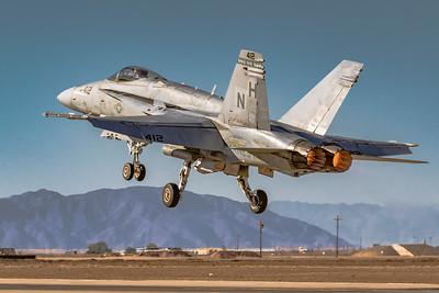 I Am 'Hornet' Hear me Roar! - Marine F/A-18 'Hornet' Departing NAF El Centro