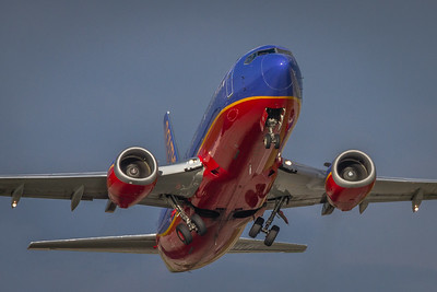 N615SW - Southwest Airlines -  Boeing 737-3H4  - 'Gear in Motion'  - Departing from KCLE Runway 24R!