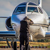 'All Stop'! - N65BT Arrives at KLPR - Rockwell International 'Sabreliner 65'