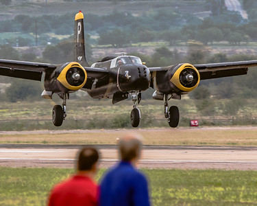 N240P 'Spirit of Waco' - Commemorative Air Force/CAF Douglas A-26B 'Invader' built in 1941- Arrival on Runway 34L at KAFW/Fort Worth Alliance
