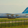 UR-82027  AN-124 Taxii's at CLE!