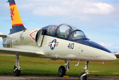 N239DM - At KLPR - Aero Vodochody L-39C 'Albatros'  © 2010 Paul L. Csizmadia  All Rights Reserved  No Use Allowed without Permission  A privately owned Aero Vodochody 'L-39C Albatros' based at KLPR sports Vietnam Era Navy colors, in the afternoon sun on the ramp.