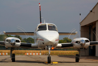 N340SU - 'Cessna 340' - Head On at KLPR!  © 2010 Paul L. Csizmadia  All Rights Reserved  No Use Allowed without Permission