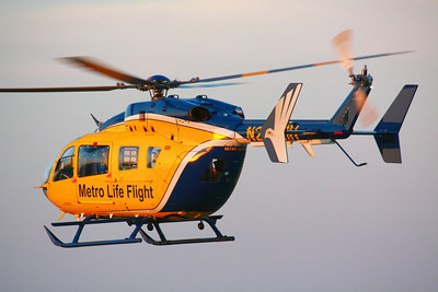 N262MH - Metro Life Flight - Responding to a Sunset Call from KLPR!  © 2010 Paul L. Csizmadia  All Rights Reserved  No Use Allowed without Permission