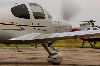 N742CD - Cirrus SR22T - Departing the Ramp KLPR!  © 2010 Paul L. Csizmadia  All Rights Reserved  No Use Allowed without Permission