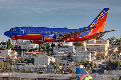 Welcome to San Diego! Southwest Airlines Boeing 737 on a morning 'Final' for KSAN/San Diego International Airport Runway 27