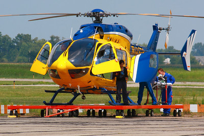 N145PB - A Life Flight Team Responds to a Call at KLPR!  © 2010 Paul L. Csizmadia  All Rights Reserved  No Use Allowed without Permission  With a medical team consisting of 2 IFR Pilots, a Physician and a Flight Nurse, N145PB a Cleveland Metro Life Flight Eurocopter EC145 (MBB-BK 117 C-2) prepares  to depart from KLPR (Lorain County Regional Airport) in response to a call.