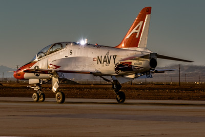 With a Glint of Sunlight! - T-45C 'Goshawk' Rolls Out and Heads for the Barn at NAF El Centro