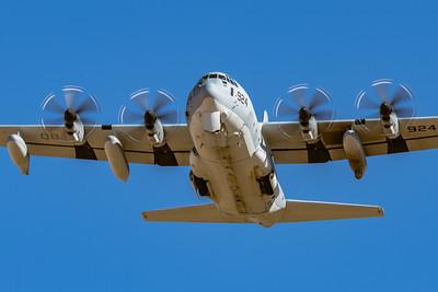 Marine Corps KC-130J 'Hercules' VMGR-352 'Raiders' QB-6924 - Overhead Pass at NAF El Centro