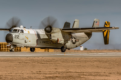 Full Power & Brakes Off! -  Grumman C2-A 'Greyhound' Departing NAF El Centro